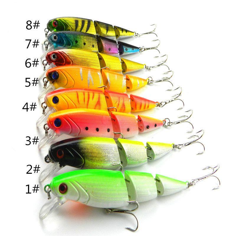 "Fishing Lures Bass Bait Crankbaits Hook Minnow Hard Fishing Tackle 13.5cm-5.3/"""