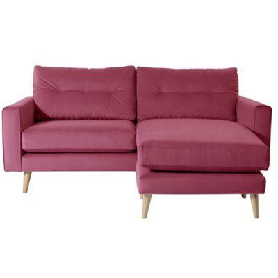 Debenhams Pink Ella Chaise Corner Sofa With Light Wood Feet At Debenhams Com Chaise Corner