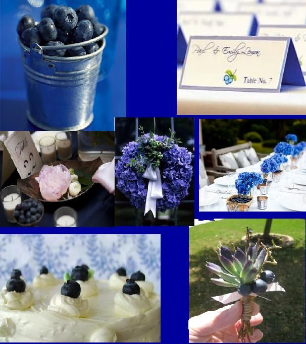 Centerpiece ideas with blueberries   Photo Credit: St. Judes Creations