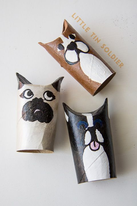 make + take: paper dogs. materials: paper towel roll (or ...