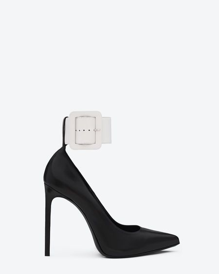 Yves Saint Laurent Patent Leather Ankle-Strap Pumps free shipping exclusive 2014 unisex sale online discounts cheap online sale professional cheap sale nicekicks Flv8Ae5