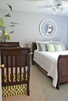 Nursery guest room combo ideas pinteres for Master bedroom with crib ideas