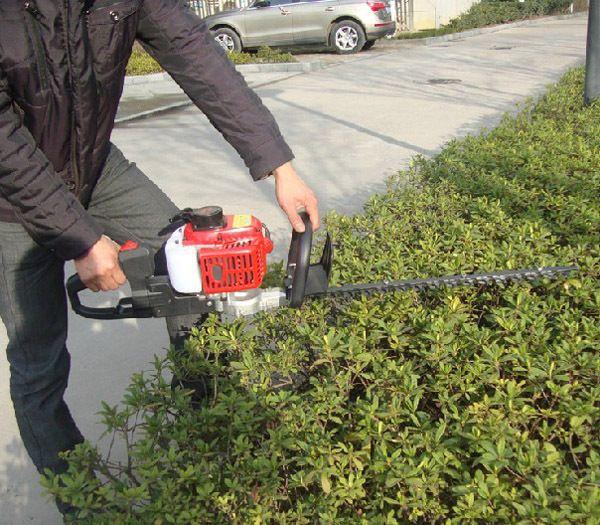 Dual Blades garden machinery 22.5cc Single Blade petrol Hedge Trimmer Gasoline Hedge Machine Pruning Shears 0.65kw