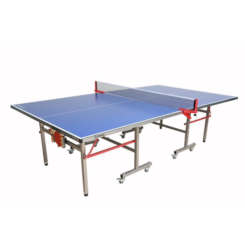 Garlando 108 In Master Outdoor Tennis Table Imp 21 365 The Home Depot Outdoor Table Tennis Table Table Tennis Outdoor Ping Pong Table Indoor outdoor ping pong table
