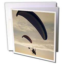 """Danita Delimont - Extreme Sports - Paragliders, extreme sport, Iznik Lake, Turkey-AS37 AKA1382 - Ali Kabas - Greeting Cards-6 Greeting Cards with envelopes by 3dRose. $10.49. Paragliders, extreme sport, Iznik Lake, Turkey-AS37 AKA1382 - Ali Kabas Greeting Card is a great way to say """"thank you"""" or to acknowledge any occasion. These blank cards are made of heavy-duty card stock with a gloss exterior and a matte interior for smudge free writing. Cards are creased for easy fol..."""