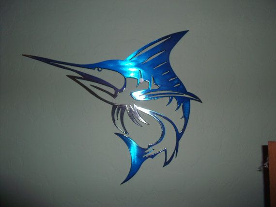 Plasma Cut Special painted Marlin Metal Mancave Garage Wall Art Home Decor