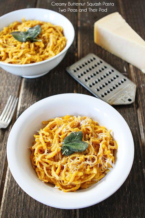 creamy butternut squash pasta whole wheat pasta with creamy butternut squash sauce and crispy sage leaves tasty pasta squash pasta recipe wheat pasta recipes pinterest