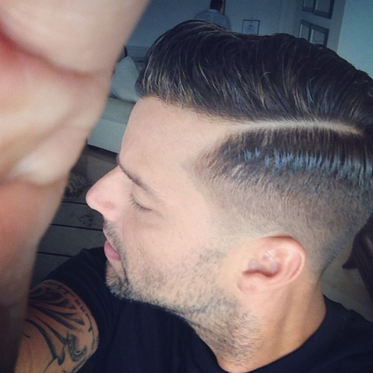 Ricky Martin Side Part Barbershops Pinterest Hair Styles Hair