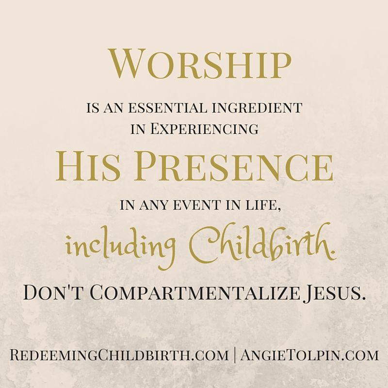 Redeeming Childbirth's New UltraSound of Worship Playlist