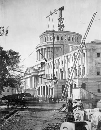 The US Capitol, Washington, DC as it appeared in 1861. Today (12 April) is the day in 1861 when Confederate artillery opened fire on Fort Sumter in Charleston Harbor, ushing 4 years of civil war in America. By 1865, approx. 625,000 Amercians had perished as a result of the war. This was the deadliest war in American history.