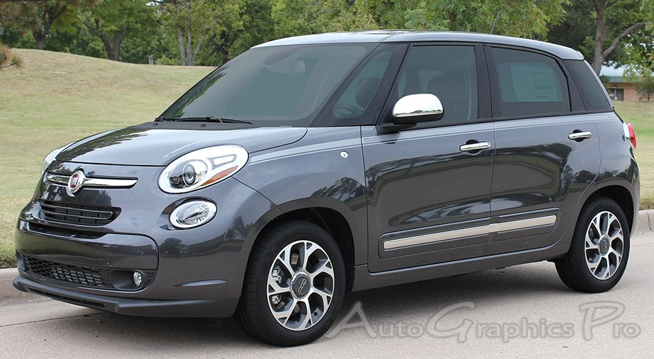 20142015 Fiat 500L STRAIGHTAWAY 4Door Stripes Vinyl Graphic