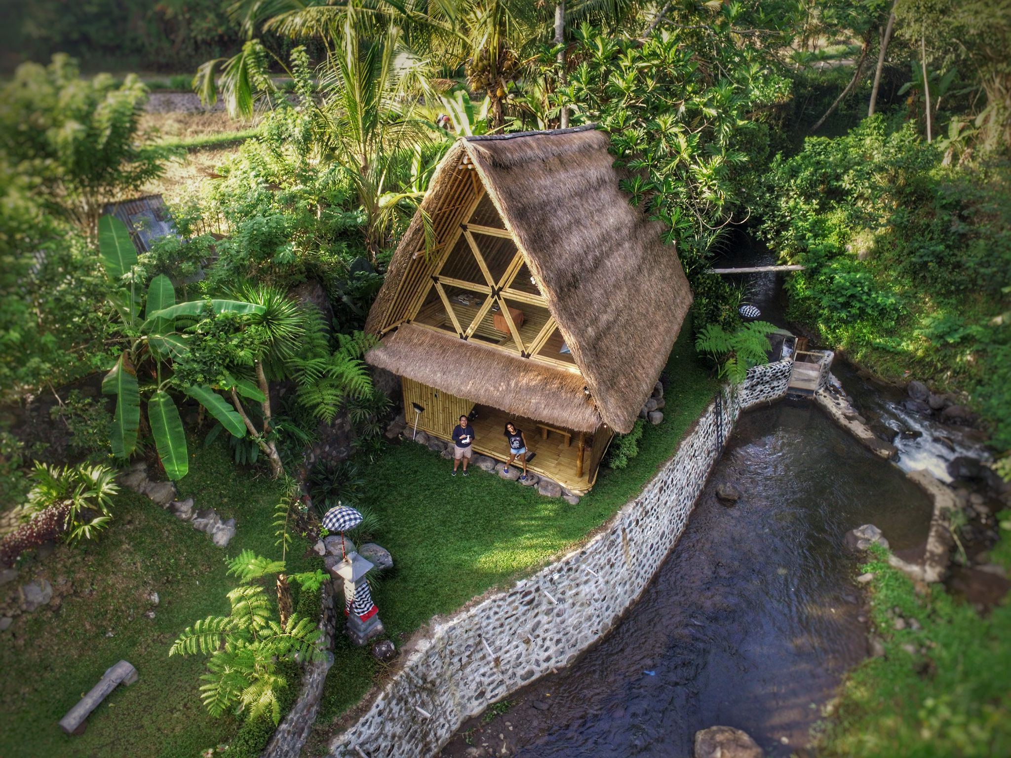 Off Grid Living In Bali Highlands Using Waterwheel To