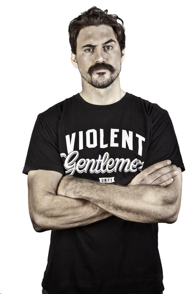 2257579d Hockey enforcer George Parros and Violent Gentlemen T-shirt http://www.