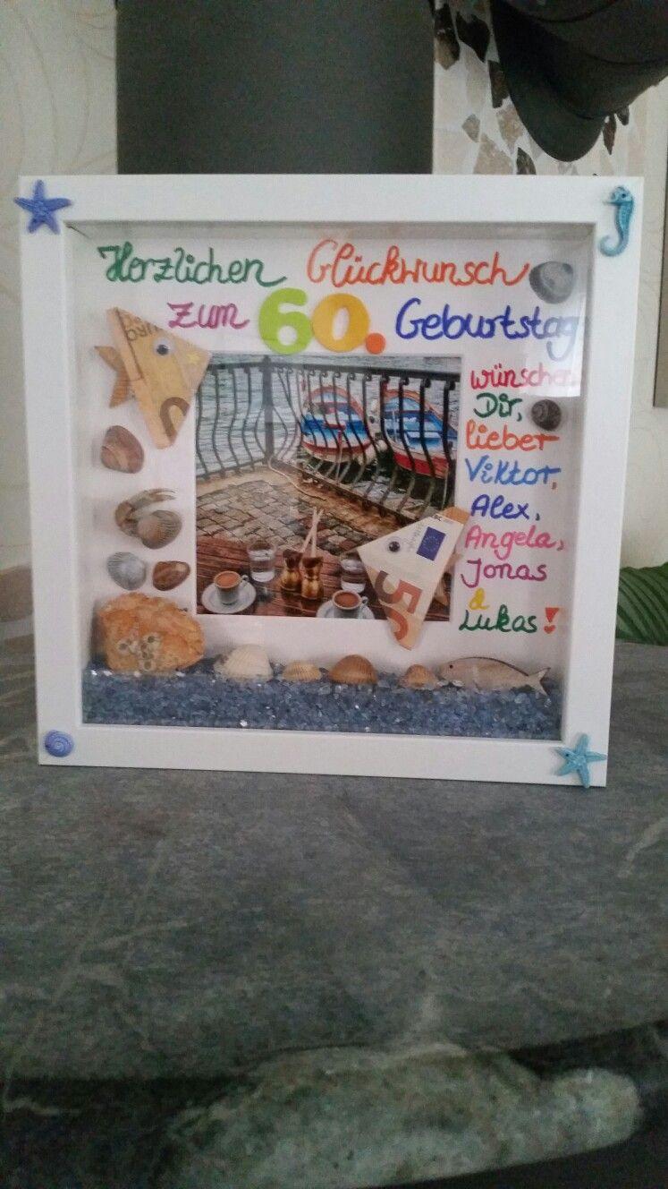 Zum 60 Geburtstag Und Als Reisekasse Maritim Mit Muscheln
