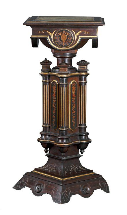 Herter Brothers Made This 41 Inch Rosewood Pedestal. It Sold At A Cottone  Auction
