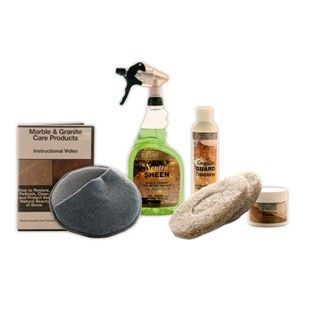 Standard Granite Countertop Maintenance Kit - Without Buffer Homeowners, use our Standard Granite Countertop Maintenance Kit to clean, seal, polish, and protect granite countertops, vanities, tabletops, and shower walls. Granite care made safe and easy! $79.95