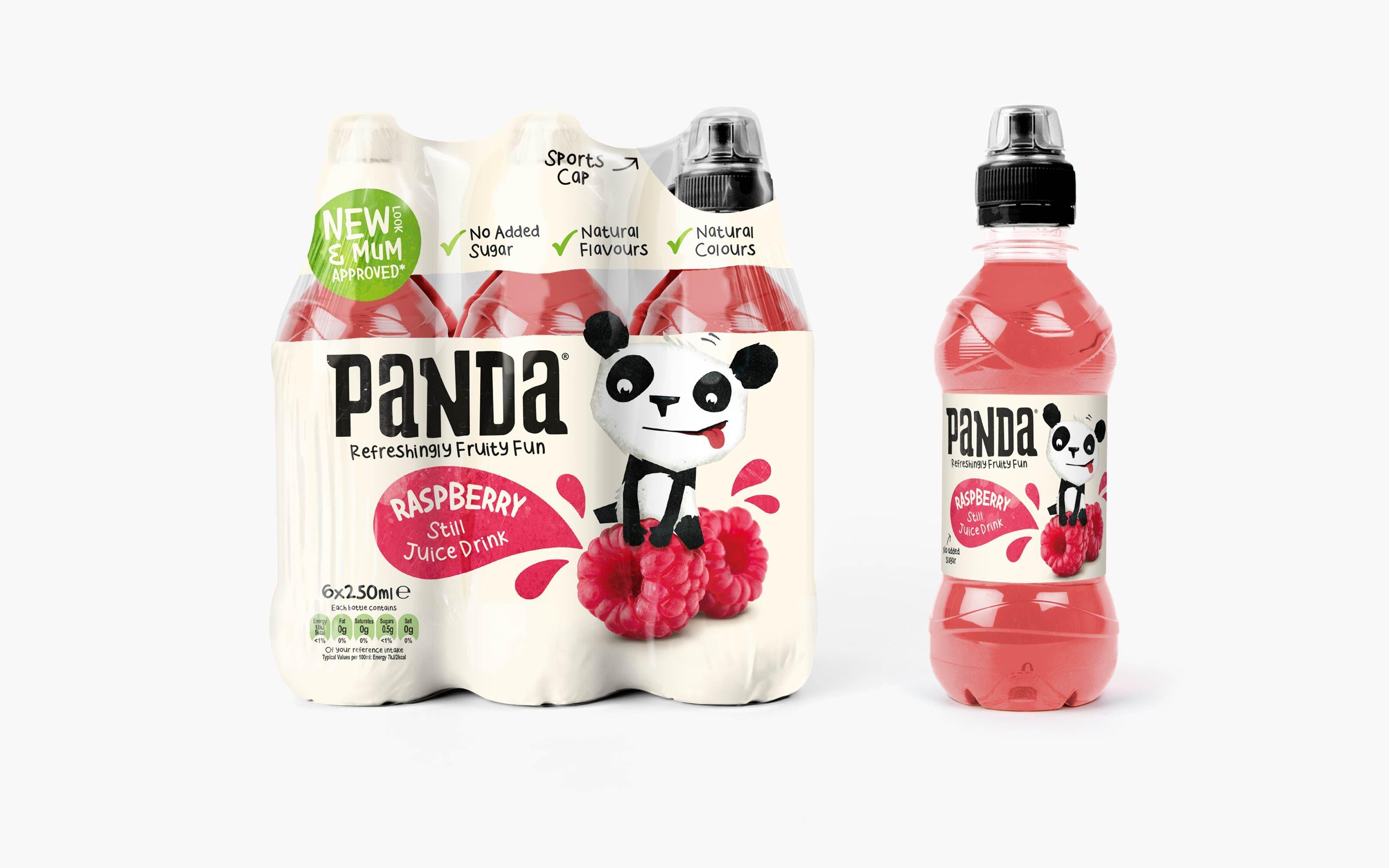Panda drinks packaging designed by robot food package for International decor brands