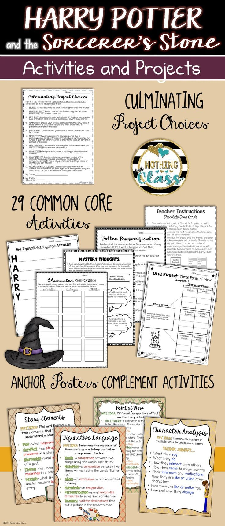 Harry Potter And The Sorcerer S Stone Activities And Projects