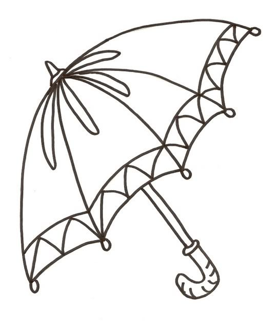 Umbrella Umbrella Umbrella Coloring Page Coloring Pages