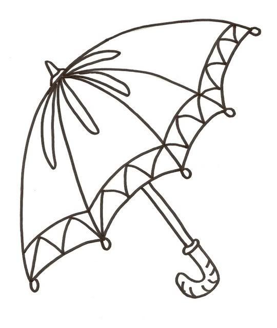 Umbrella Avec Images Illustration En Noir Et Blanc Pochoir