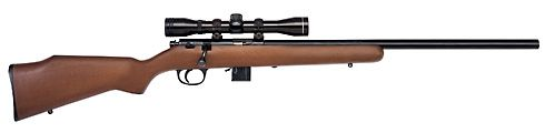 Marlin Model 917V is a 17 HMR rifle for which ammunition is PLENTIFUL.  at $275-$325 street price it's more affordable than the rotary magazine ruger 77