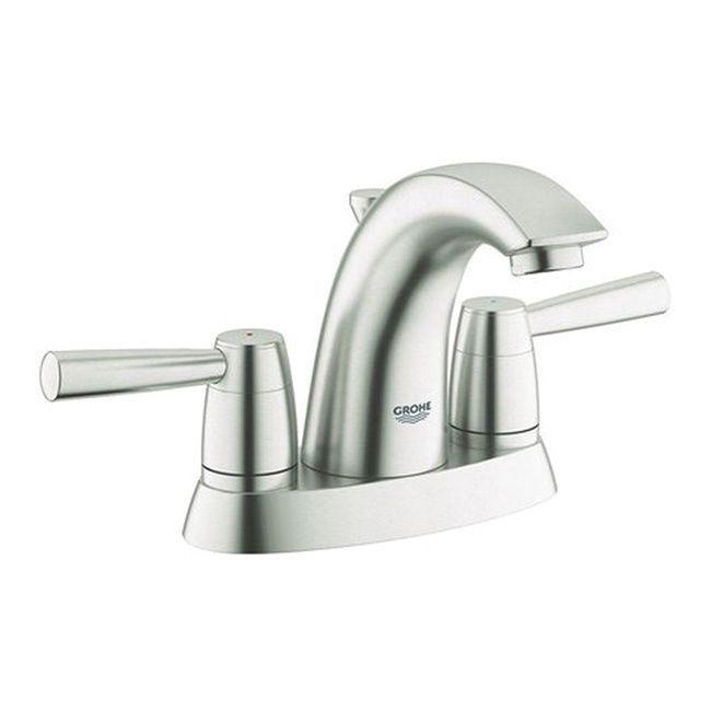 Grohe Infiniti Brushed Nickel Arden 2-handle 4-inch Centerset ...
