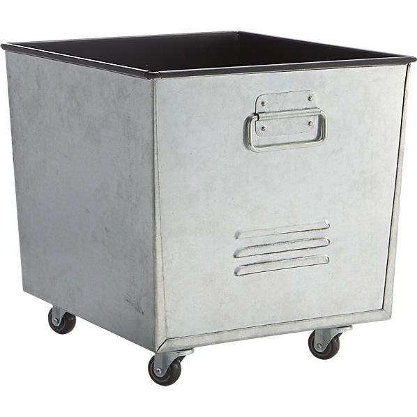Galvanized Rolling Tote Rolling Tote Unique Office Supplies Accessories Storage