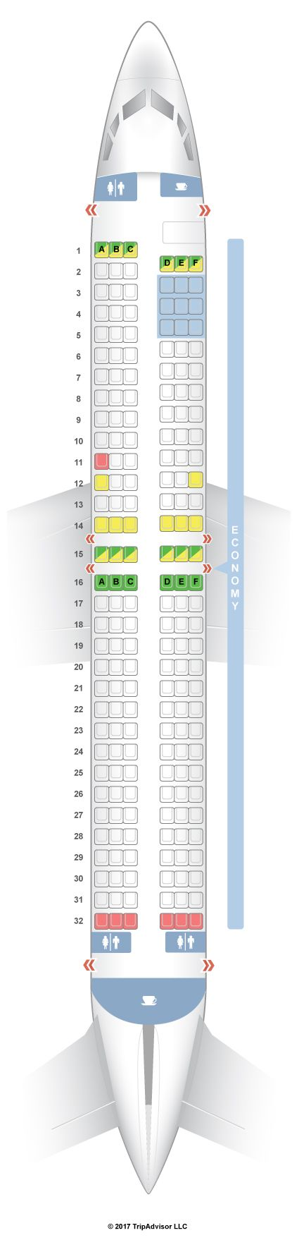 Seatguru Seat Map Thomson Boeing 737 800 738 Seatguru Seatguru Spirit Airlines Qatar Airways