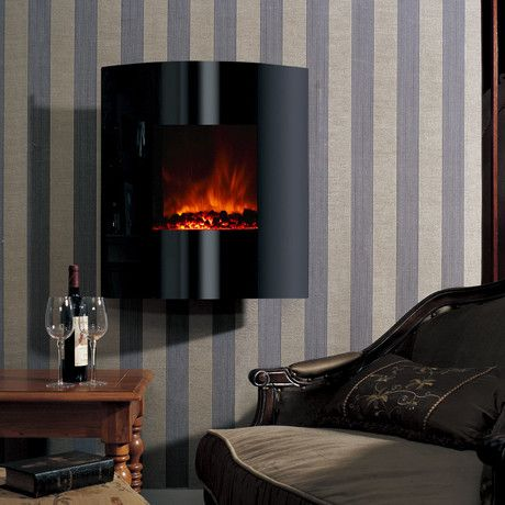 Helix Convex Wall Mount Electric Fireplace 26 Modern Flames Wall Mount Electric Fireplace Contemporary Electric Fireplace