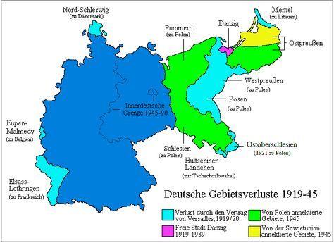 Deutschland 1871 1991 Ostgebiete Des Deutschen Reiches Karte