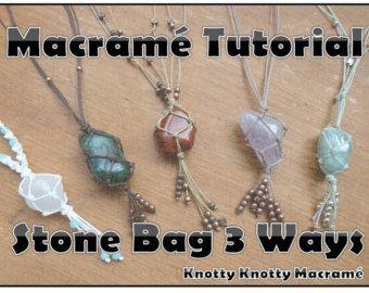 Photo of TUTORIAL Macrame Stone Wrapping / Macrame Stone Tying / Knotty Knotty Macrame