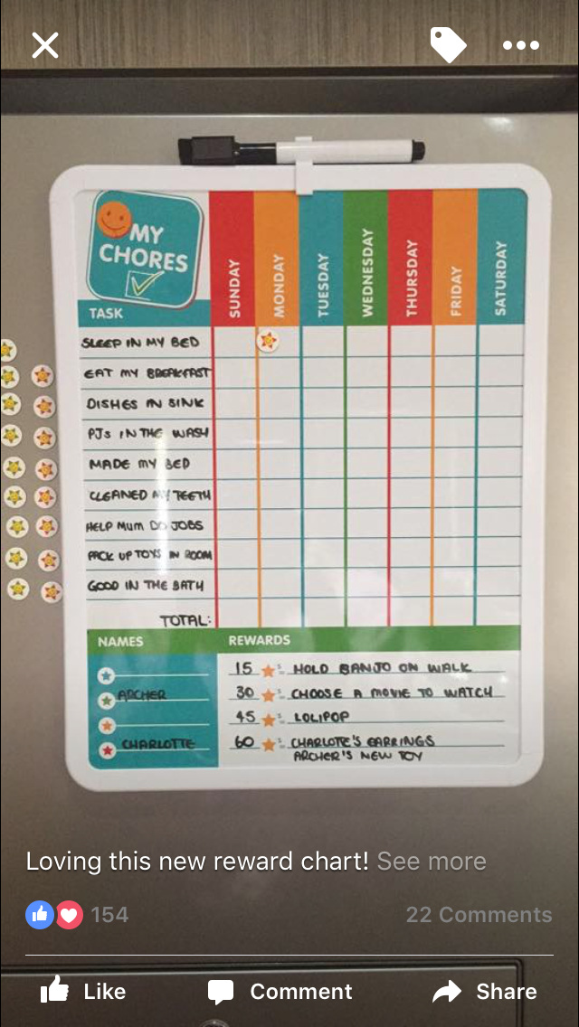 Kmart sticker chart