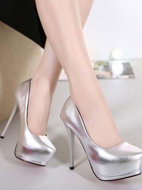 silver high heel shoes 2018 #shoeshighheelsfancy