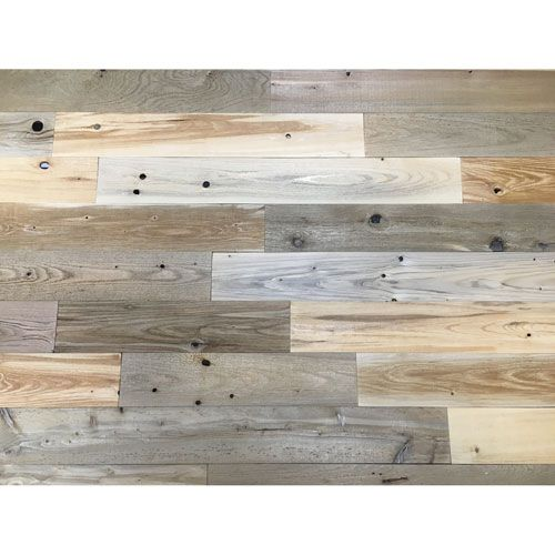 peel and stick reclaimed natural wood 4 inch planks timberchic wall panel wall decor home for. Black Bedroom Furniture Sets. Home Design Ideas