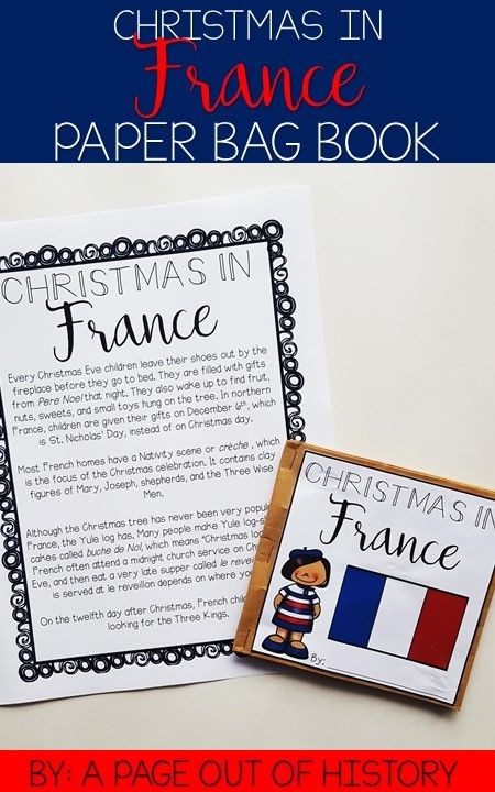 Christmas In France Christmas Around The World Paper Bag Book