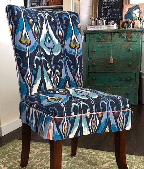 Robert Allen Ikat Custom Dining Chair Slipcovers In 2020