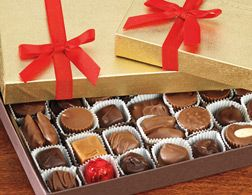 Assorted Chocolates in Gold Box | #Chocolate #Gift - Pittman & Davis