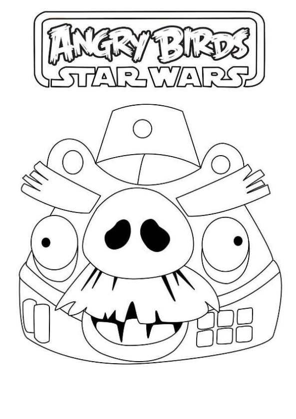 Coloring Page Angry Birds Star Wars Angry Birds Pig Angry Birds Star Wars Angry Birds Pigs Coloring Books