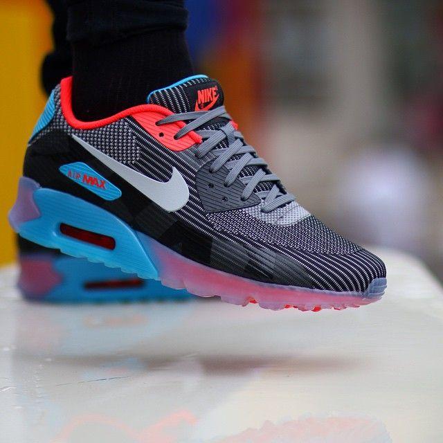 5305ea75c8442 Nike Air Max 90 Knit Jacquard ICE QS