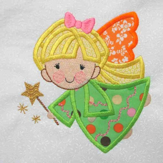 Angel Applique And Embroidered Quilt Block By Amy Embroidered