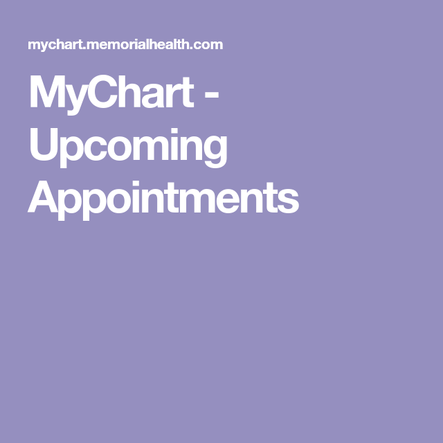 MyChart Appointments Medical questions, Epic