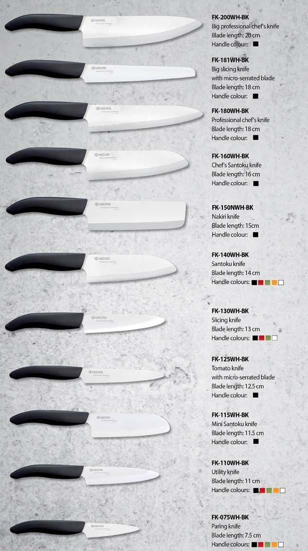 Fk Colour Series Ceramic Knives Kitchen Products Products