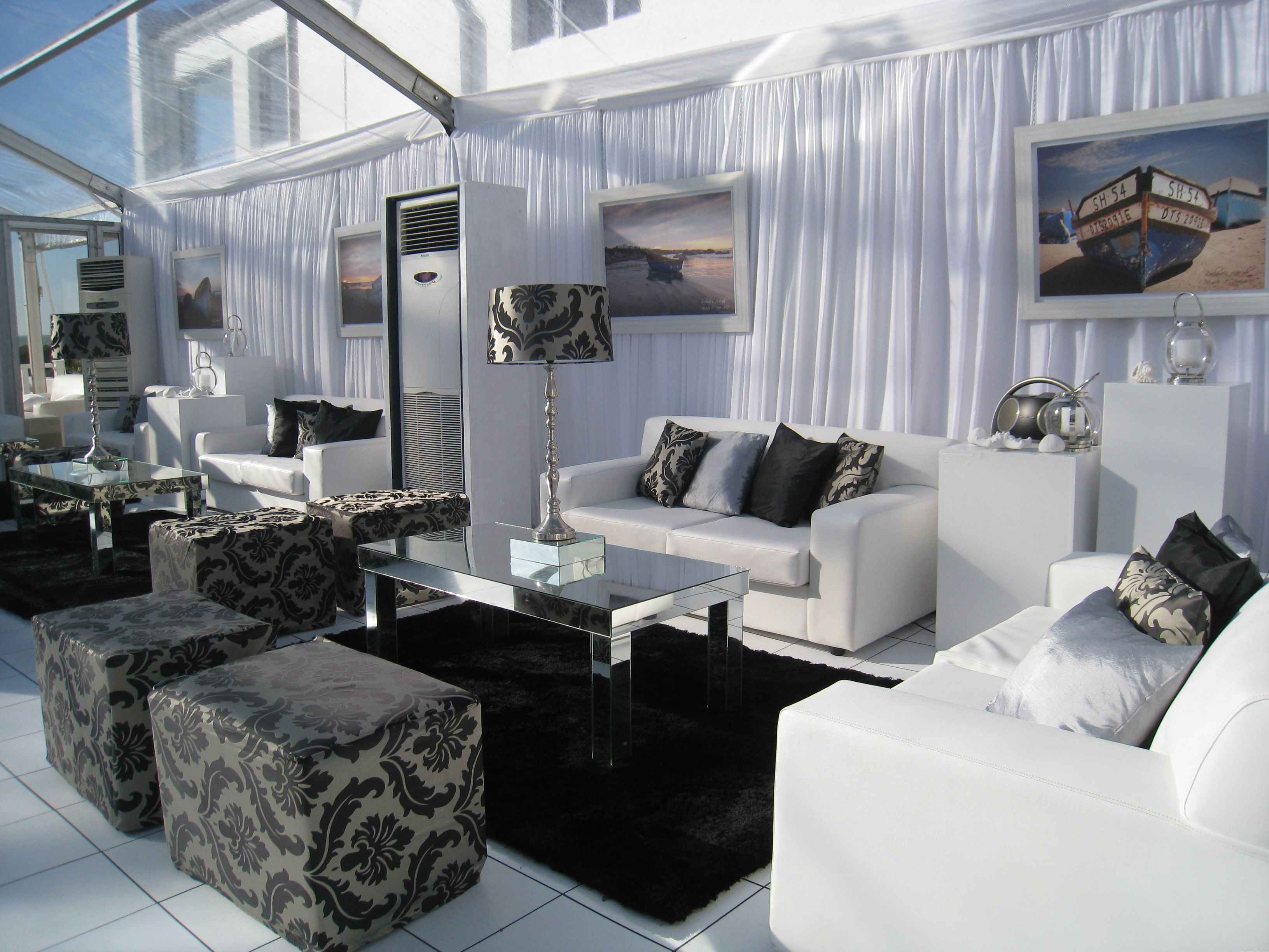 Chattels Clear Marquee Lounge Set Up Paternoster Cape Town