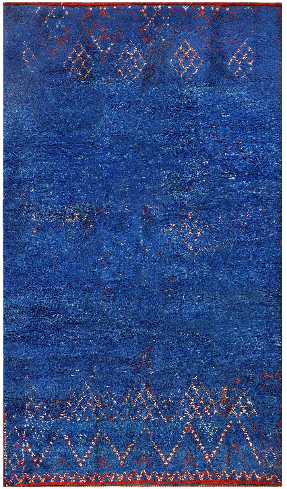 Vintage Blue Moroccan Rug 48399 Morrocan Rug Rugs Rugs