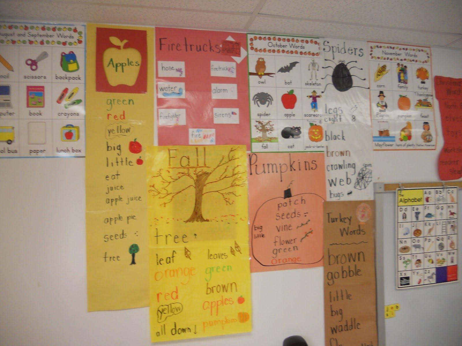 word walls for kindergarten - Google Search | Word Walls | Pinterest ...