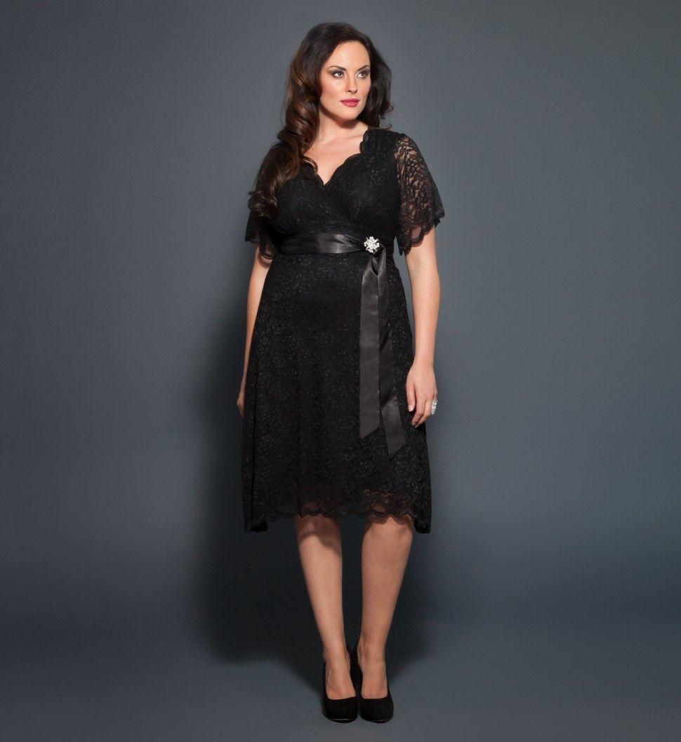 Pretty retro glam lace plus size party dresses kiyonna non