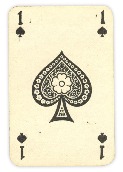 vintage spade card  This looks great ! Vintage looking card ! The ace of spades ...