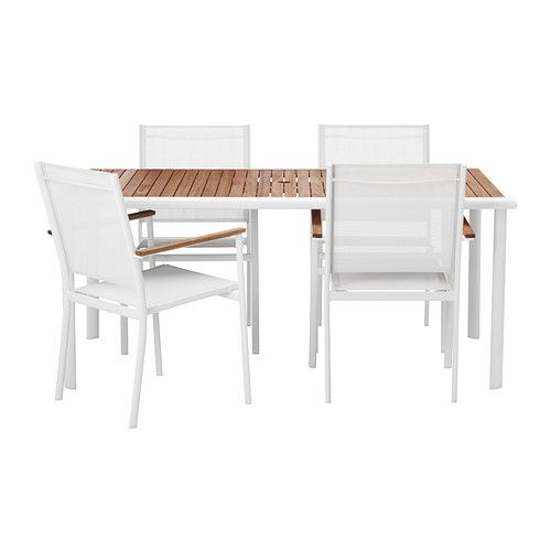 hasselÖn table and 4 armchairs ikea 345 home outside