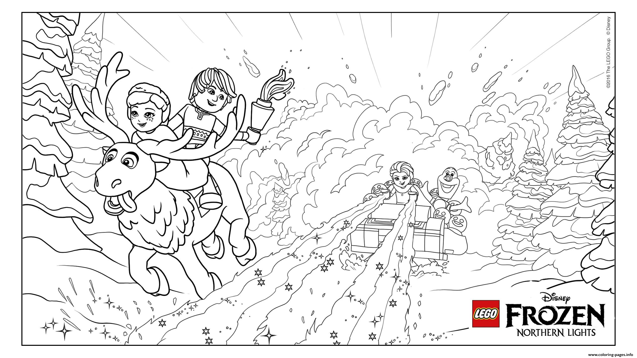 Print Frozen Nl Avalanche Lego Disney Coloring Pages Misc