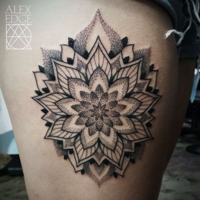 35 Spiritual Mandala Tattoo Designs: Dotwork Mandala Tattoo, Sacred Geometry, Mandala